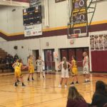 Abby Nelson, of the Negaunee Miners, taking one of her free-throws of the night.