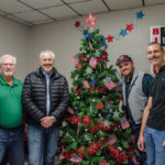 Mike, Bill, Bruce, and Jerry at Christmas is for Veterans 2017.