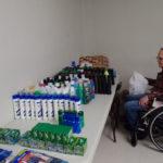 People included items like soap, shampoo, shaving cream and razors.