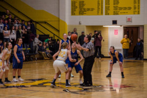 The Negaunee Miners and Ishpeming Hematites face of during the Mid Pen Conference.