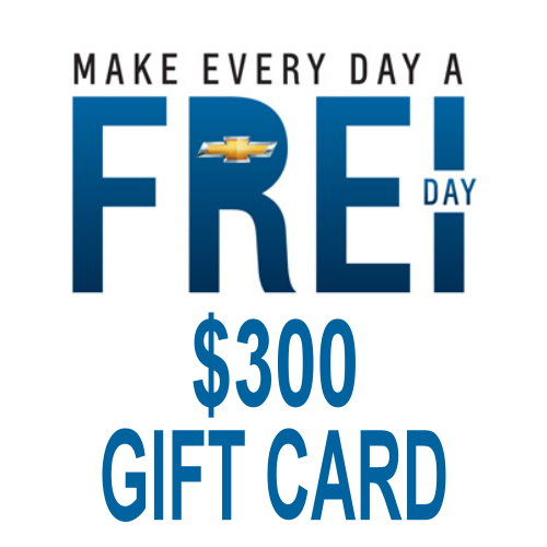 Save 17% on your next trip to Frei Chevy when you pick up a Gift Card from UPBargains.com!