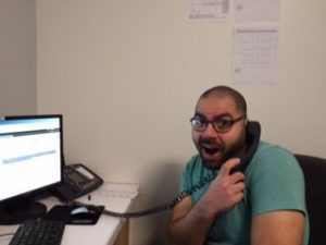 Eric on phone