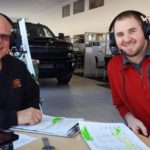 Major Discount and Andy Grundstrom chatting on air about the deals at Frei Chevrolet.