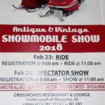 2018 Antique & Vintage Snowmobile Show poster