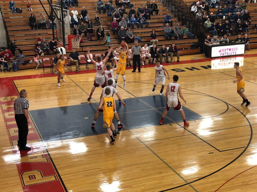 Negaunee Miners Boys Basketball VS Westwood Patriots on Sunny FM