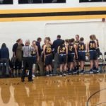 Negaunee_Miners_Girls_Basketball_VS_Iron_Mountain_Mountaineers_The Miners Girls take a time-out