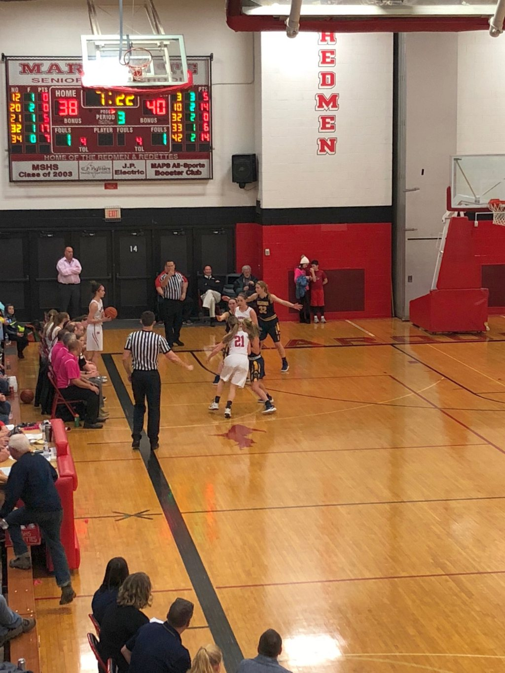 Negaunee Miners Girls Basketball VS Marquette Redmen on Sunny FM.