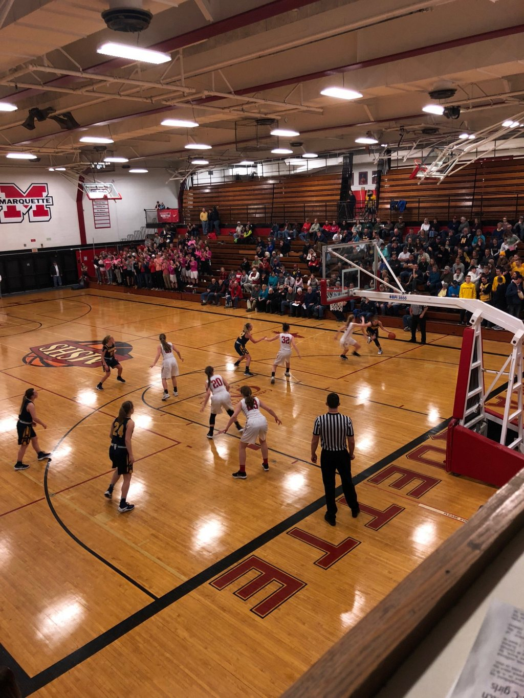 Negaunee Miners Girls Basketball VS Marquette Redmen on Sunny FM.