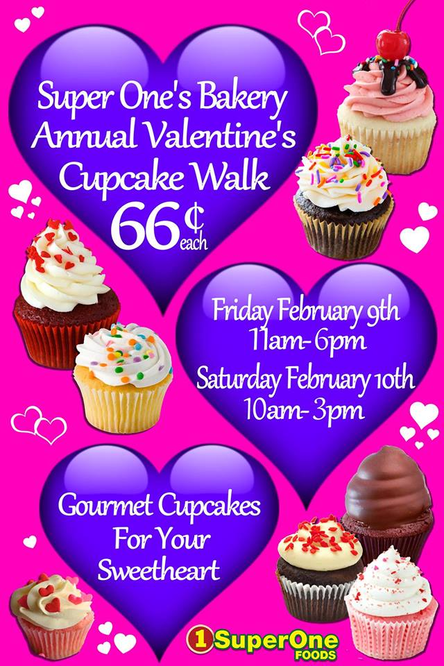 Check out the large variety of fresh cupcakes in the bakery department!