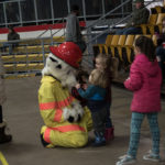 Sparky the Fire Dog was out at Lakeview tonight.