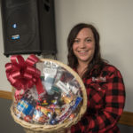 Rachel Sorelle went home with a Wine and snack basket from Super One Foods.