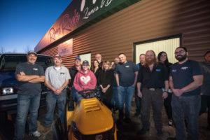 Bergdahl's and the Great Lakes Radio staff with winner Tasha Vangundy.