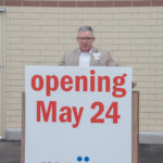 Store Director John Spaulding spoke to the audience about what is to come with Meijer.