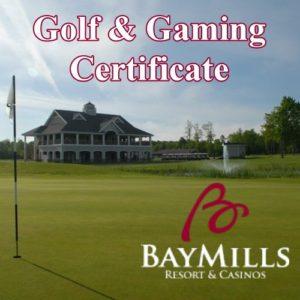 Golf right on Lake Superior at Bay Mills Resort & Casino.