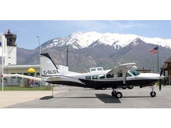 Low-Flying Airborne Survey Airplane Example with Canadian Tail Markings Coming Soon to Marquette Region (source USGS)