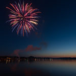 One of the first fireworks set off for Pioneer Days 2018!