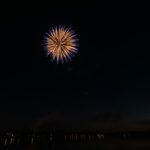 The fireworks started at about 10:45pm this evening.