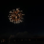 A different effect on this shot makes the fireworks look wavey.