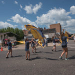 The color guard in the NSH Marching Band.