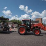 Ryan driving the U.P. Kubota Tractor.