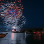 The sound of the fireworks rippled across the water.
