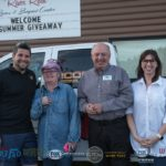 Mike Angeli, Elizabeth Lizotte, Jim Grundstrom, and Jill Grundstrom with the Silverado Summer Giveaway Grand Prize.