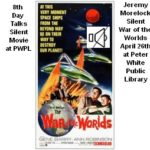 Jeremy Morelock 8th Day Interview Silent War of the Worlds at Peter White Public Library Thursday April 26th