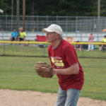 Randy Girard on the pitchers mound.