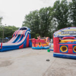 Double Trouble brought out a slide, pirate ship and obstacle course.