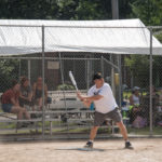 Bruce taking a swing.