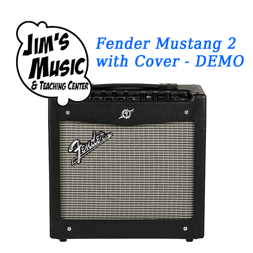 Get a lightly used Fender Mustang II from Jim's Music and a free amp cover!