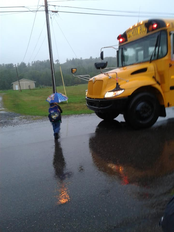 School Bus on the First Day of School