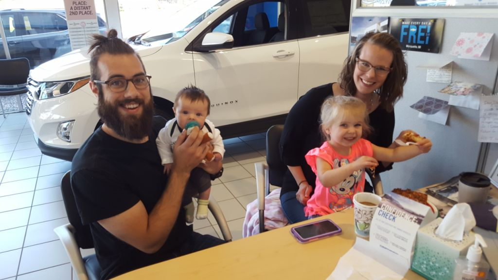 This happy family bought a new car at Frei Chevrolet!