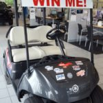 Sign up to win this golf cart at Frei Chevrolet.