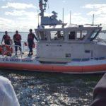 This Coast Guard boat led the parade on the lake