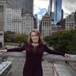 Kelsey at Millennium Park in Chicago, The Sunny Morning Show