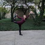 Kelsey in Dancer Pose at Millennium Park in Chicago, The Sunny Morning Show