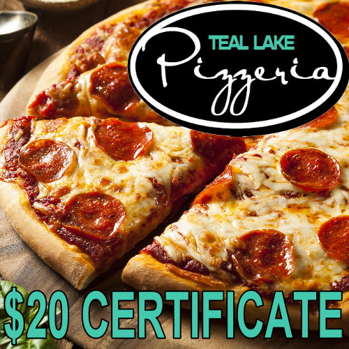SGet $20 at Teal Lake Pizzeria for ONLY $13 at UPBargains.com!!!