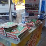 Free Jet's pizza at Frei during the radio broadcast