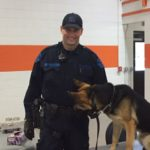 The Michigan State Police even brought one of their K-9 units