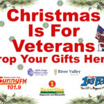 2018 Christmas is For Veterans Drop off locations for donated items.