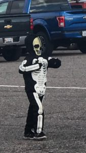 Holden as a Skeleton, Halloween 2018, The Sunny Morning Show