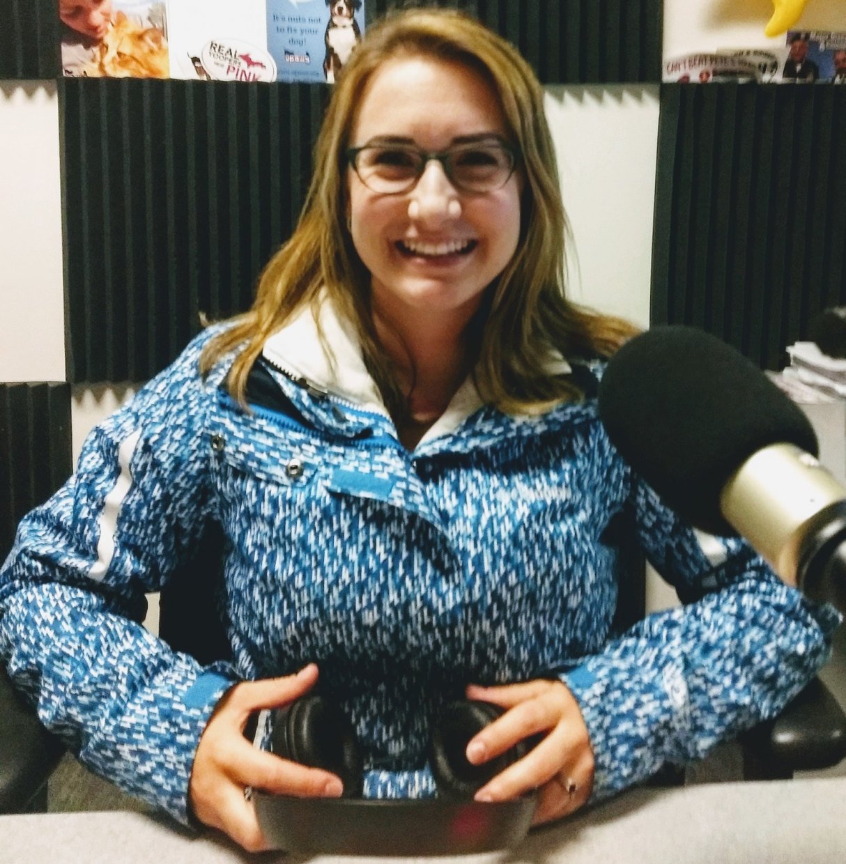 Kelsey in her Glasses, The Sunny Morning Show