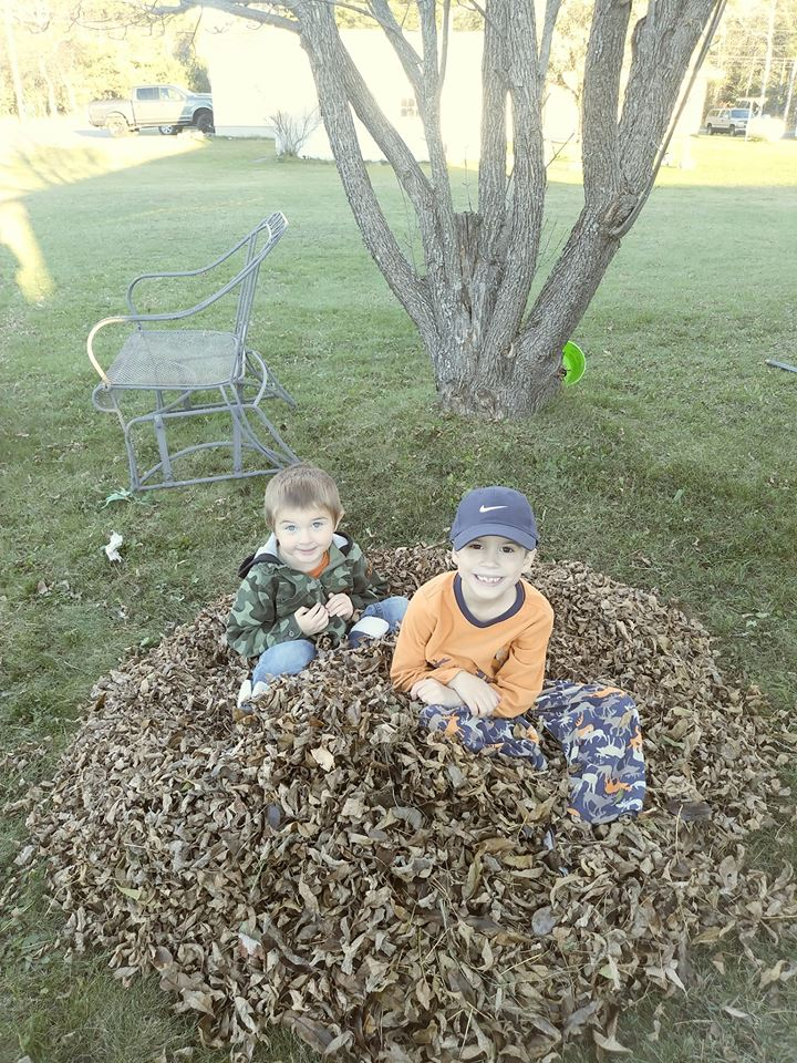 Kelsey's Nephew Titan and Son Holden enjoying the Last of the Fall Season, The Sunny Morning Show.jpg