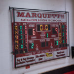 The end of the first quarter during the Negaunee Miners vs Marquette Redettes varsity basketball game on Sunny.FM 101.9