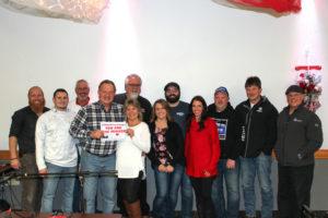 The Great Lakes Radio and Meyer Yamaha staff with giveaway winner, James Maki.