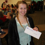 Courtney Knight from Marquette won tickets to Gaelic Storm.