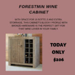 Get the furniture that fits your style. The Forestmin Wine Cabinet is the item for Day 2 of the 21 Days of Christmas Sale for Ashely HomeStore