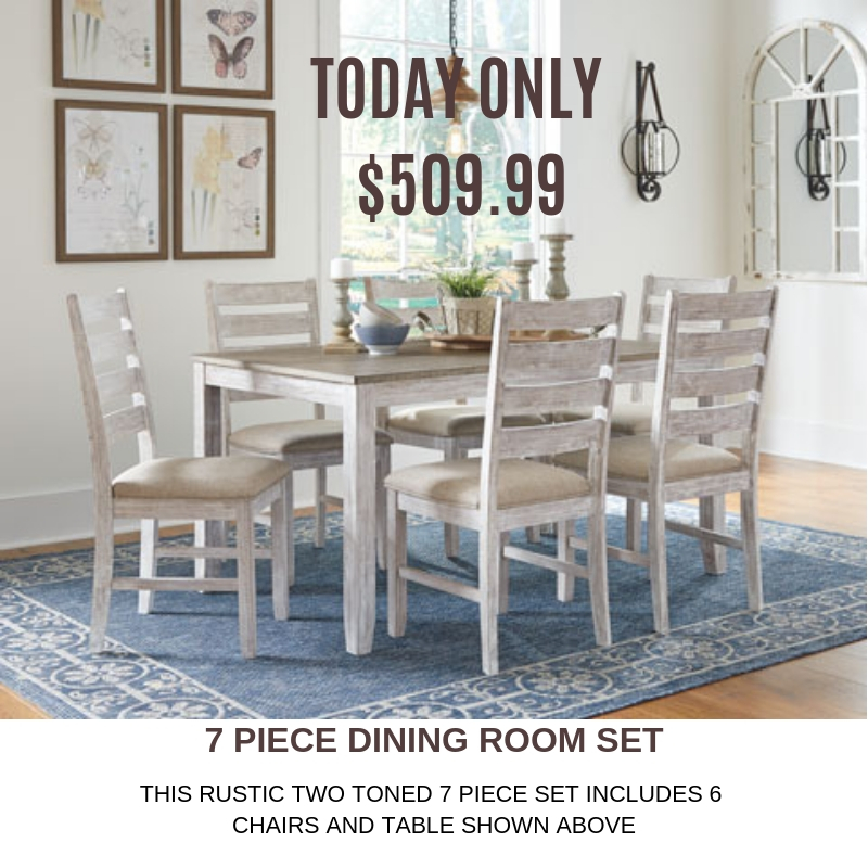 Save over $170 on this 7 piece dining room set from Ashley HomeStore.