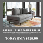 Put some mid-century modern style into your life with this Zardoni Chaise from Ashley HomeStore. Just $429.99!